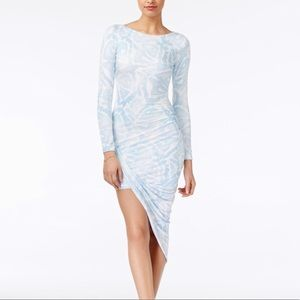 Guess Asymmetrical Midi Dress with Ruching